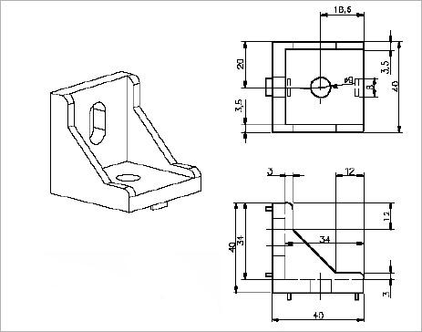 Gussett Element 40x40 - Compact MT Engineering Sdn Bhd